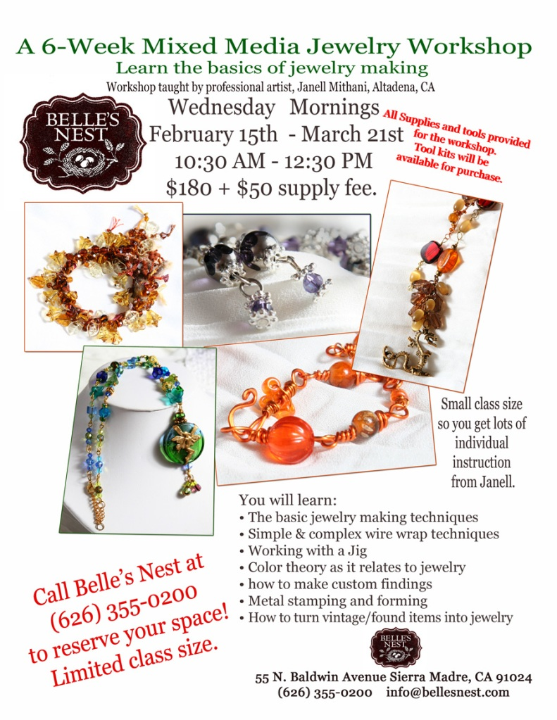 Jewelry Workshop at Belles Nest by Janell February 2012