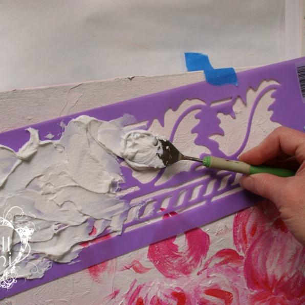 Applying medium to stencil