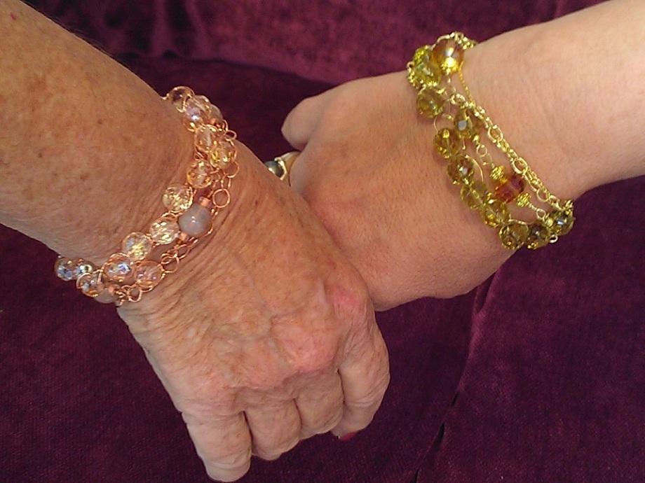 4 strand bracelets from class