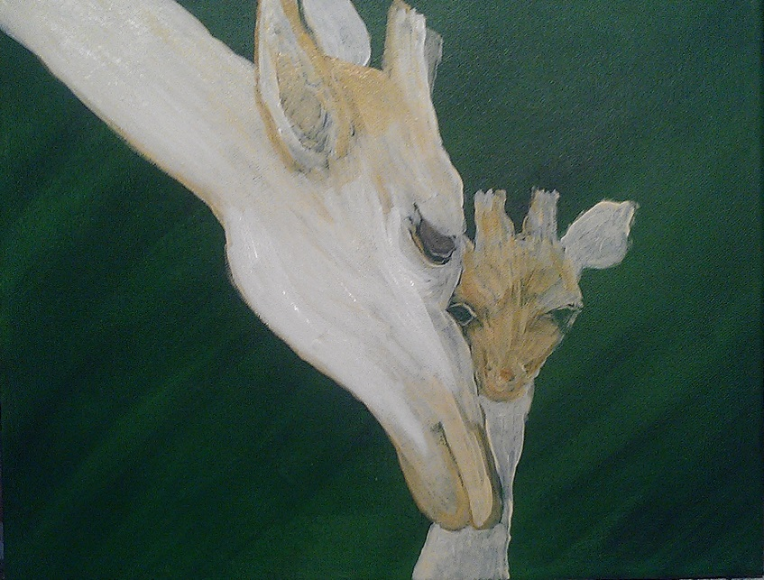 Progress so far on giraffe painting