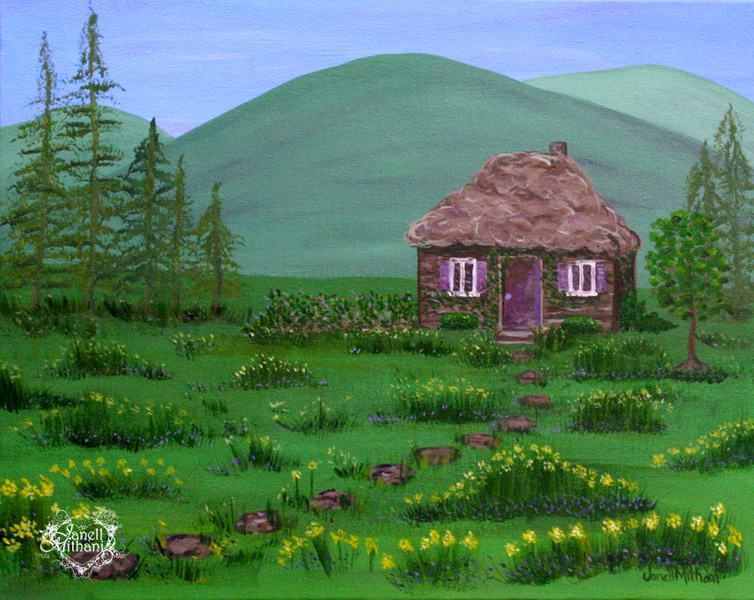 Painting Serenity in a Daffodil Meadow by Janell Mithani