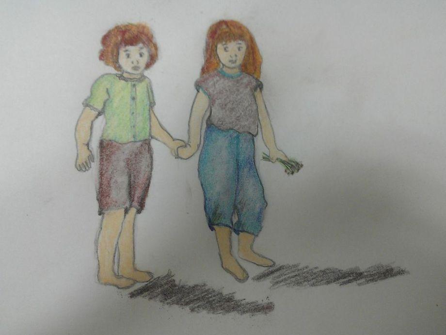 sketch of sisters