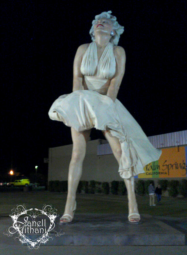 photograph of Marilyn statue in Palm springs