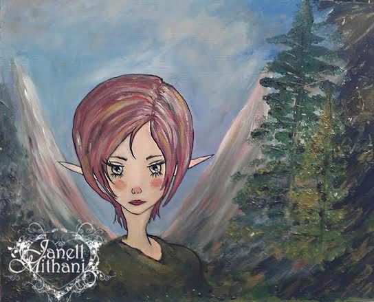 Forest fairy painting by Janell Mithani
