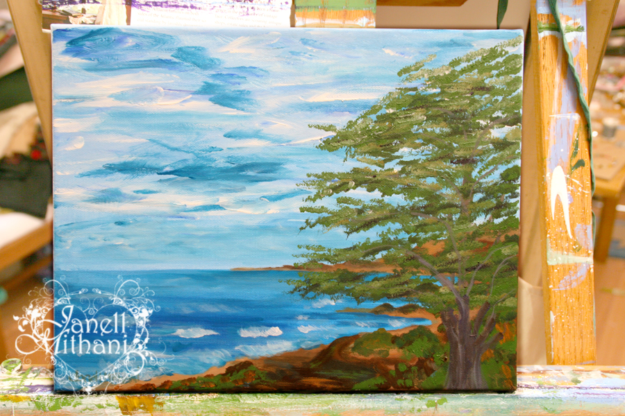 painting of Cambria by Janell Mithani