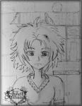 Sketch of book lover Manga