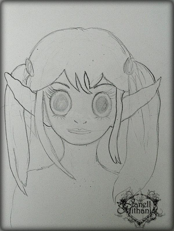 MangaPigtailsSketch1W