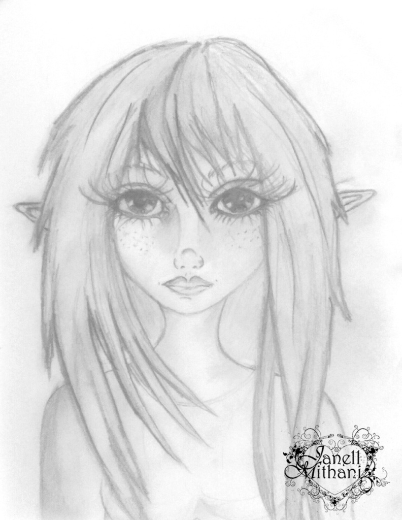 Fawn the Fairy sketch by Janell Mithani