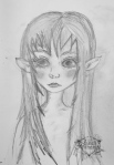 Fairy sketch of child fairy by Janell Mithani
