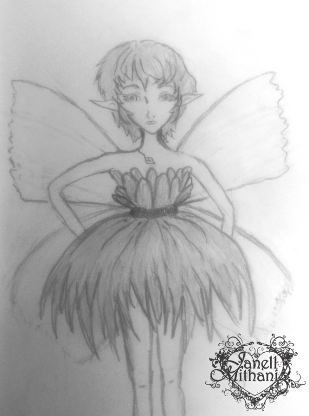 fairy in dress by janell mithani