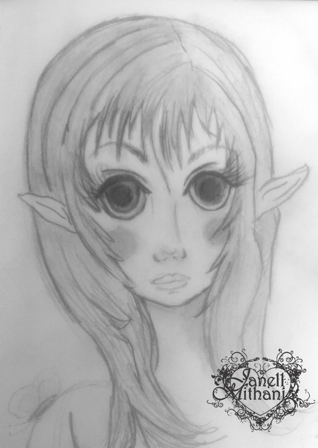 fairy sketch Laurel by Janell Mithani