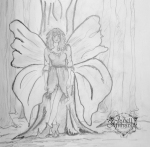 Fairy and Tree sketch by Janell Mithani