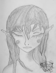 Sleeping Fairy sketch by Janell Mithani