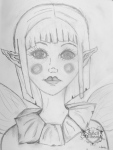 fairy sketch #2 by Janell Mithani