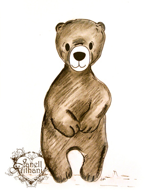 bear drawing by Janell MIthani