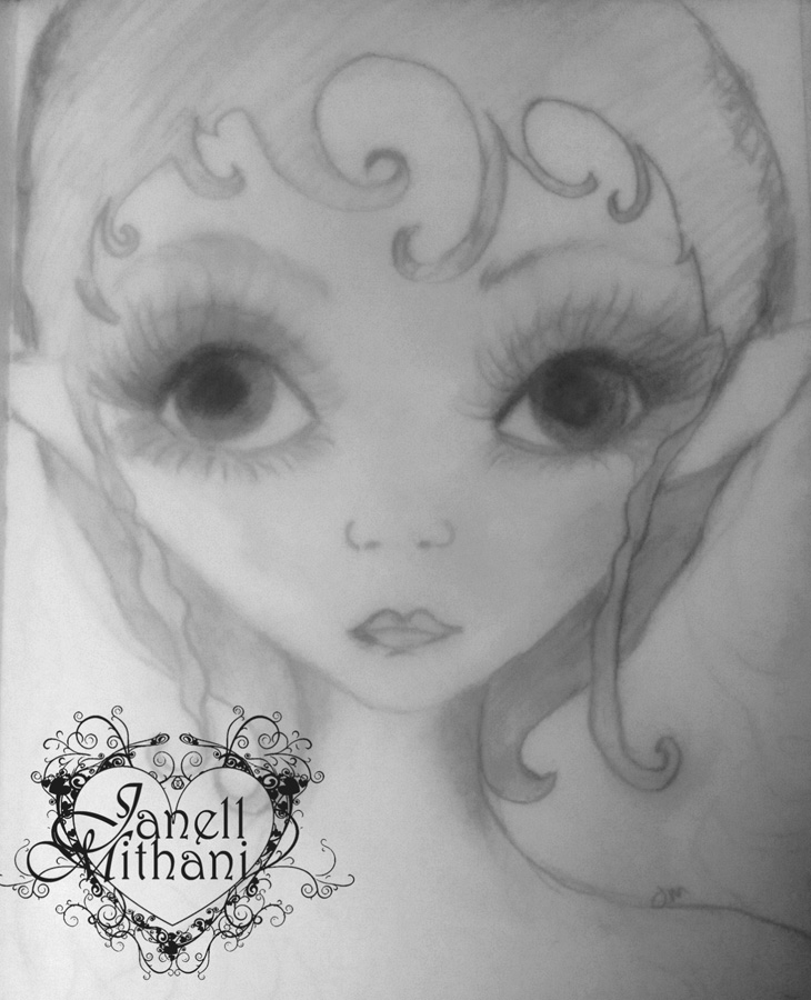 Fairy Sketch # 10 by Janell Mithani
