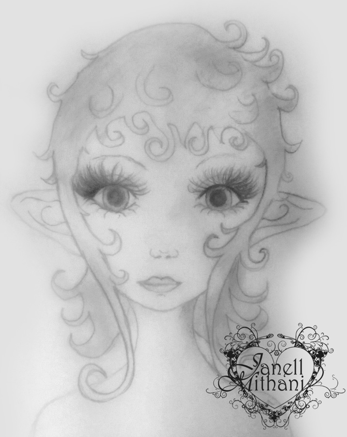 Fairy sketch # 8 by Janell Mithani