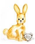 Rabbit drawing by Janell Mithani