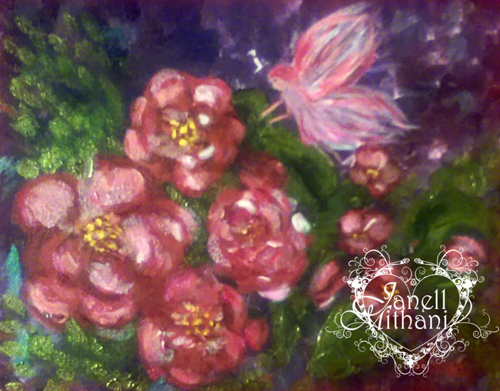 Fairy Painting, Tending Her Garden by Janell Mithani