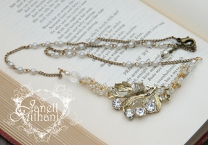 vintage assemblage rhinestone necklace by Janell Mithani