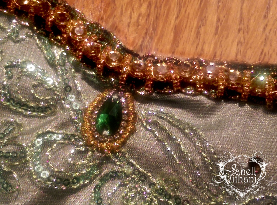 photograph of hand beading on dress by Janell Mithani