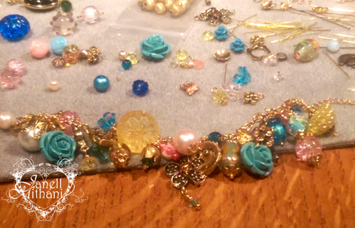 Designing Sues charm bracelet by Janell Mithani