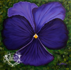 "Pansy, A Little Girl's First Love, Acrylic on canvas, 20"" x 20"""