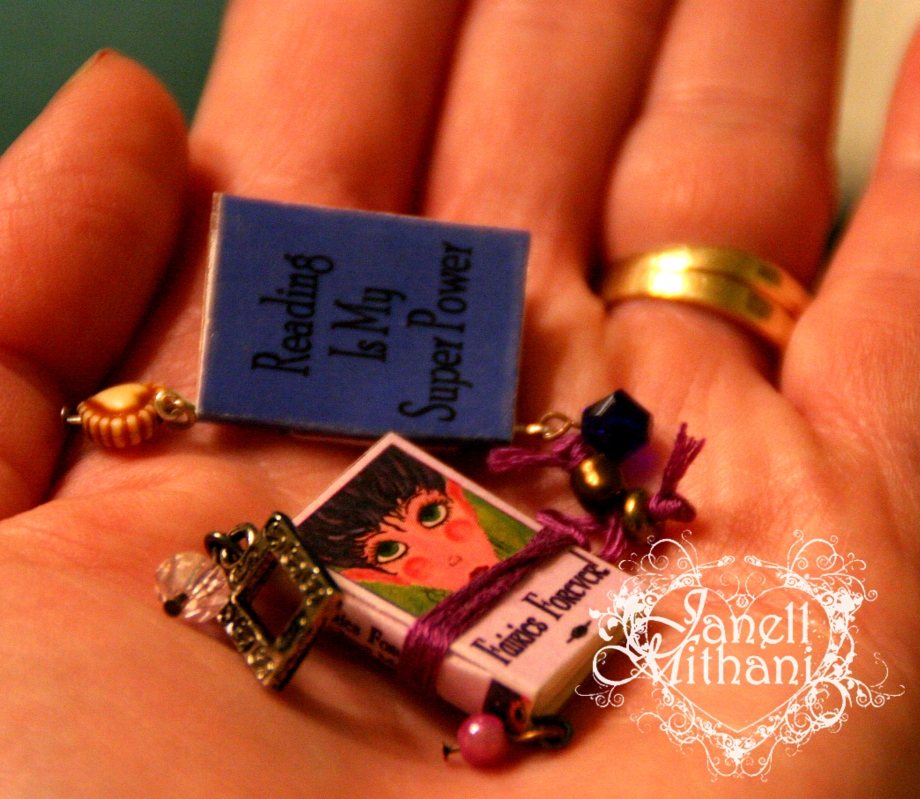 mini book charms by Janell Mithani