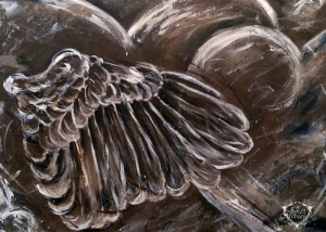wings painting by Janell Mithani