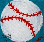 baseball painting by janell mithani for teen art workshops