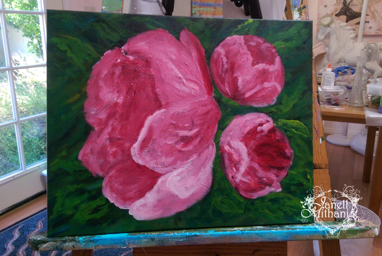 in process painting by janell mithani