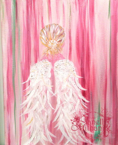 painting of angel by Janell Mithani