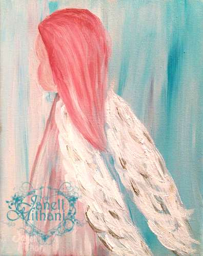 painting of sweet angel