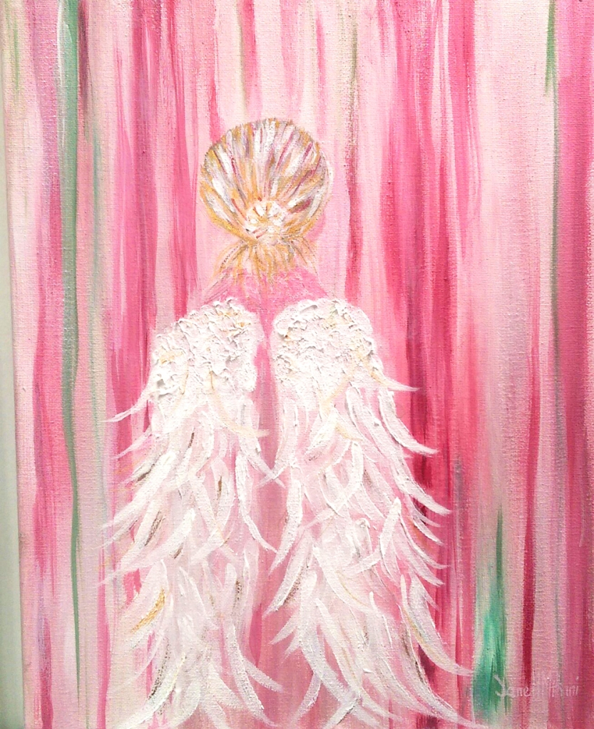 Angel Wings painting by Janell Mithani