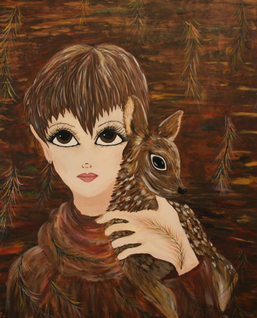 DOE painting by Janell Mithani Wildish Spirit Series