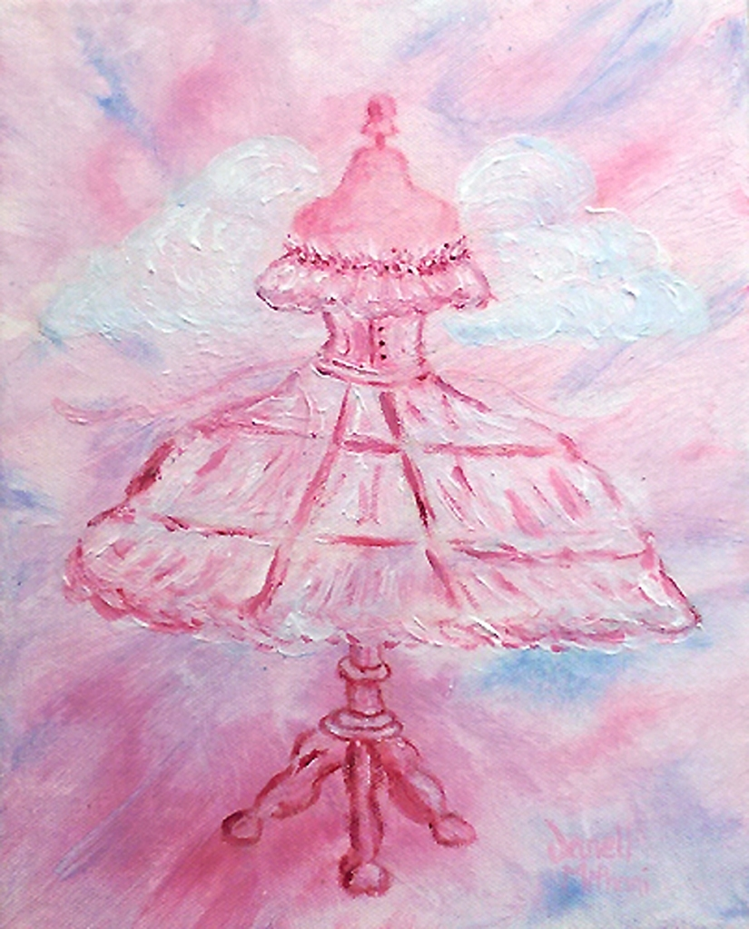 dress form painting by Janell Mithani