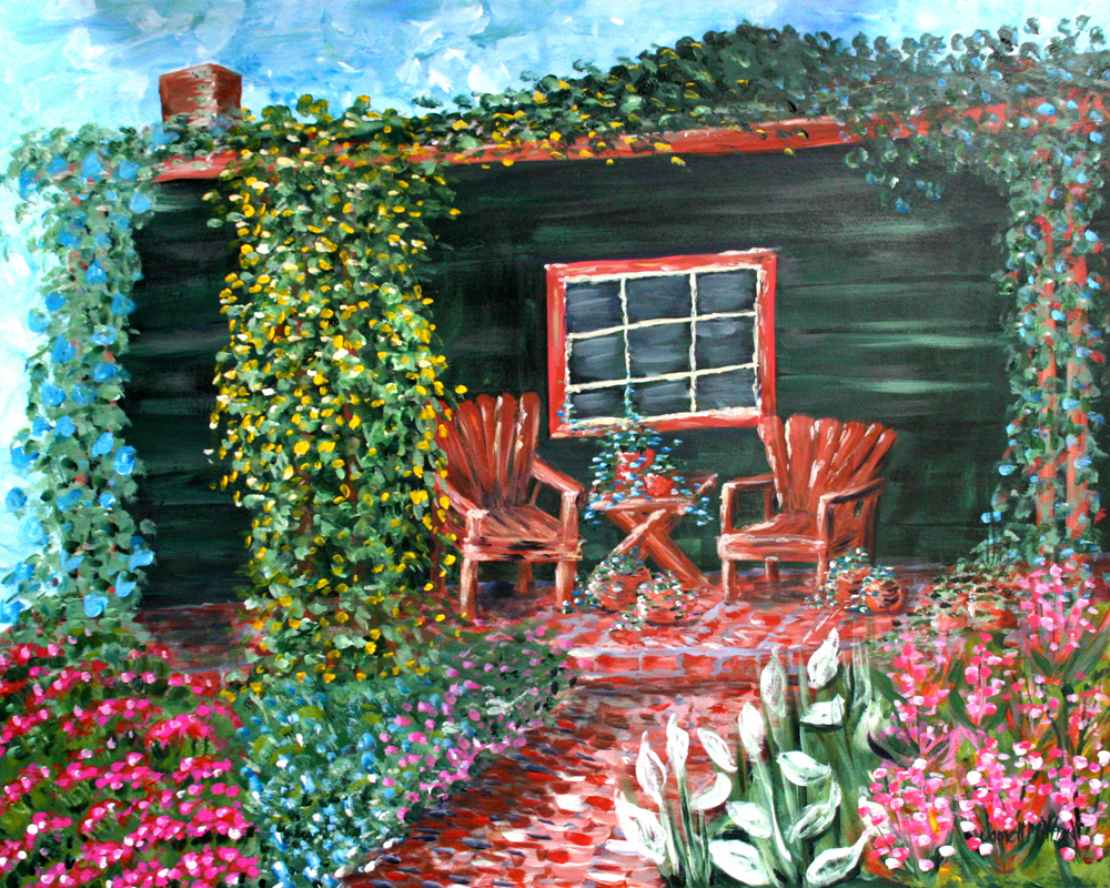 Front Porch painting by Janell Mithani