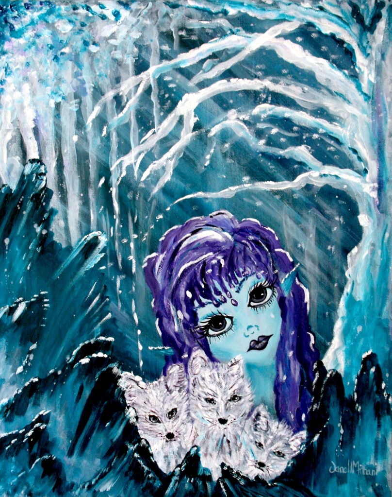 ICE painting by Janell Mithani