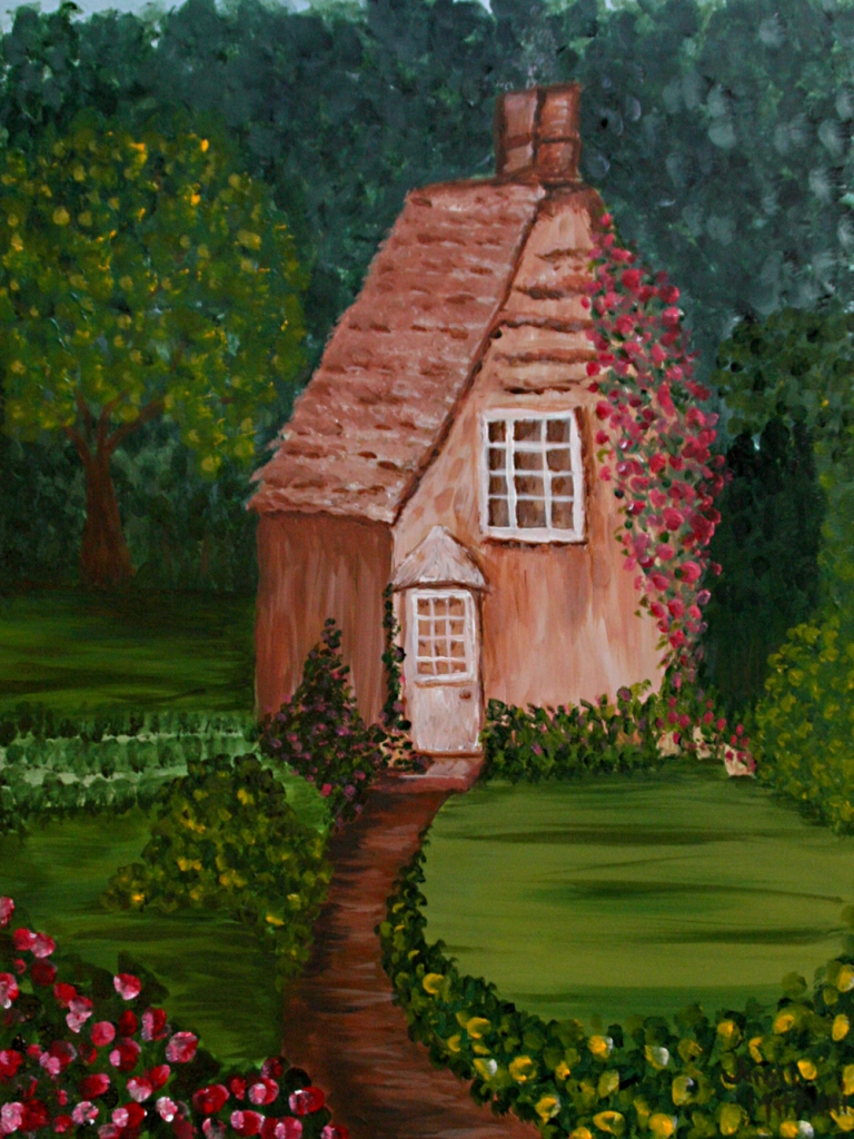 Irish Cottage painting by Janell Mithani