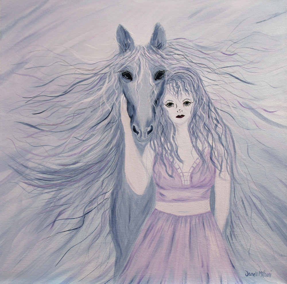 Violet and Grey by Janell Mithani