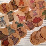 Tea bag paintings by artist Janell Mithani