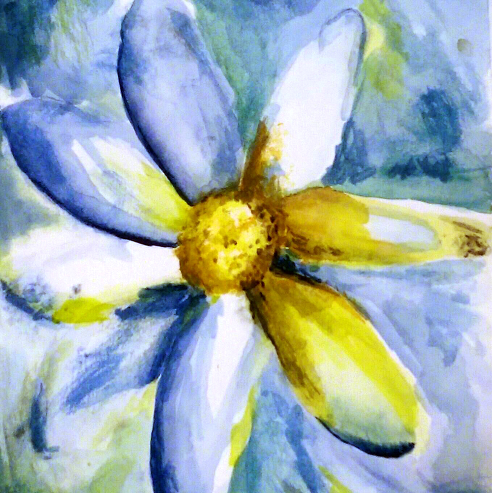Daisy Painting by Janell Mithani