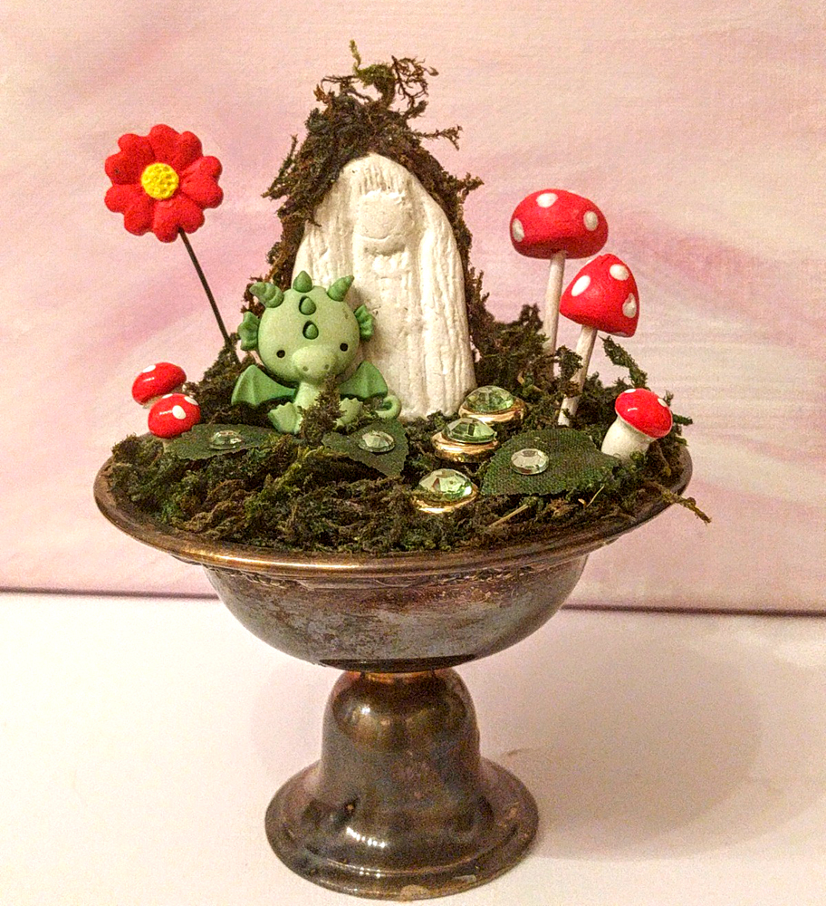 dragon fairy garden by Janell Mithani