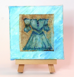 veronica tea bag painting by janell mithani