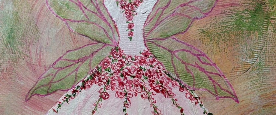 Fairy Dress Painting by Janell Mithani